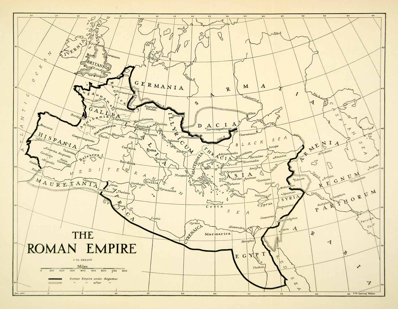 December FAITH - Map of rome under caesar